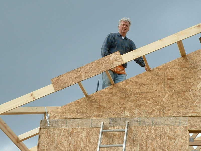 Al building his house in Wisconsin.