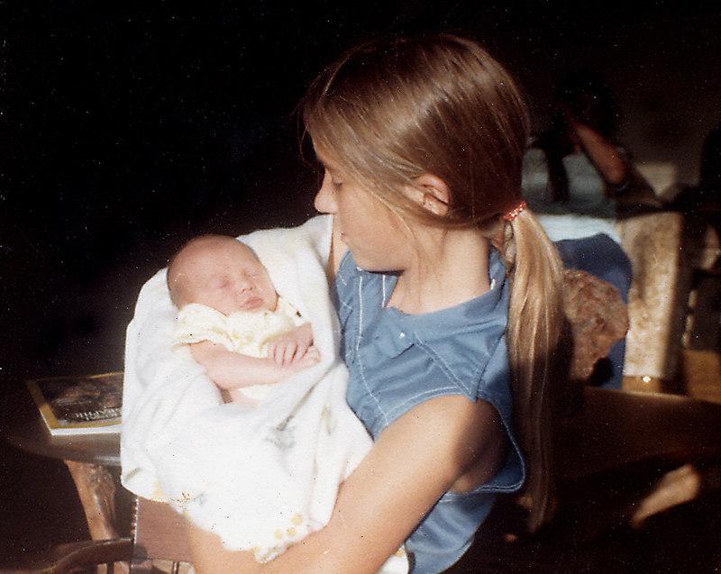 Lisa and Heather Kemp, July, 1976.