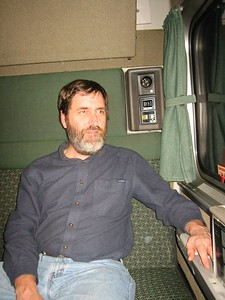 Ken on train to Oregon Dec 31, 2003