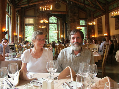 August 2011 dining at The Ahwahnee in Yosemite  -- a splurge after a few days hiking and staying in cabins at Tuolumne