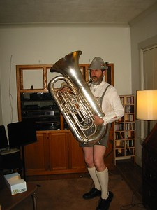 Halloween 2003  (Ken with his father's tuba)