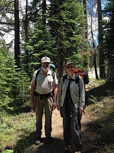 Backpacking in the Sierras, 2015, with my daughter and her sons, then ages 6 and 9.  We now return each year, hiking 2.5 miles to Lake Margaret, staying two nights, and hiking back – a modest trip for young and old.