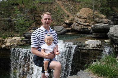 Daddy and Kendall at the Waterfall