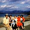 Horase Hawkins, Helen, Doug, Elaine, Melba, Ethel Haas<br /> Northern California 1955