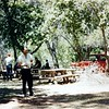 Fred. Playing horseshoes. Maybe at Lay reunion