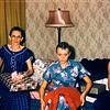 Vera, LaRue, Steve Morrill. Christmas morning