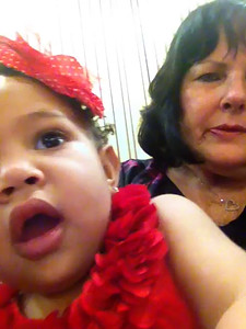 "Video made by Kennedy with Grandma's cell phone on ""selfie"" mode during the Mother's Day Sacrament meeting on May 10, 2015.  Bishop Holmes is giving a talk on Motherhood."