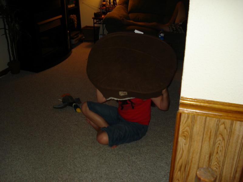 Garrett is a little shy :)