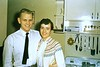 1957-kent and jean in thelma's kitchen