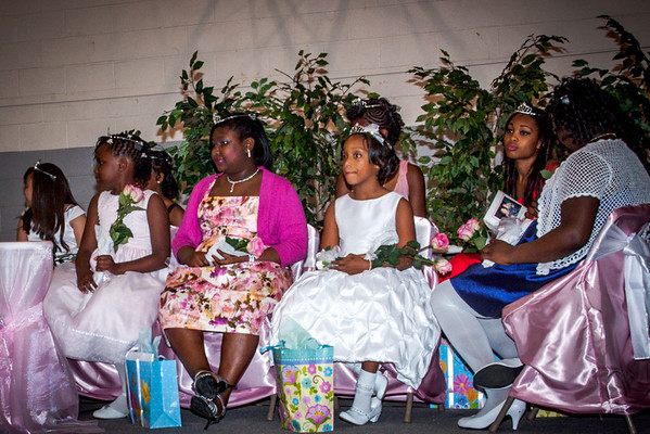 Kenya and the other Princesses listen to remarks