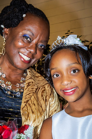 Kenya poses with Ms. Sparks after the event