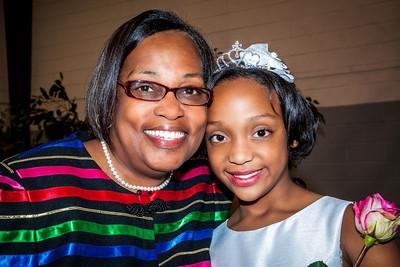 Grandmother Debbie congratulates her graceful Princess Kenya