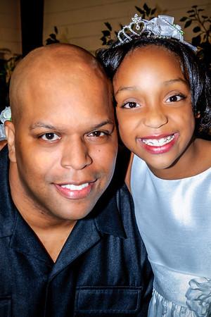 Kenya beams with joy with Daddy Eric