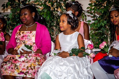 Kenya on stage with some of the other Princesses