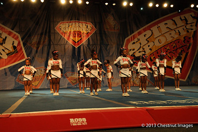 Top Notch All-Star's (TNA) Magnificent Minis  gets ready to perform their championship winning routine in Myrtle Beach, SC