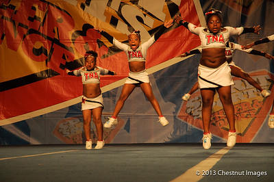 Kenya and fellow TNA Magnificent Mini leap for the National Championship title at Myrtle Beach, SC competition
