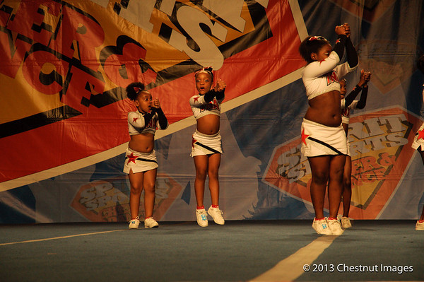 Kenya Shouts a cheer during TNA's Magnificent Minis National Cahmpionship winning roputine at Myrtle Beach, SC competition