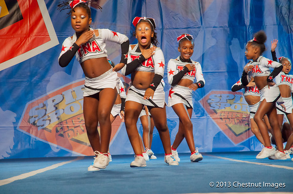 TNA Magnificent Minis display excitment during their National Championship performance at Myrtle Beach, SC competition