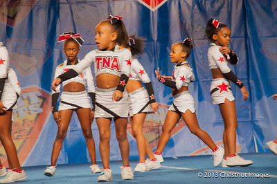 Kenya transitions during TNA Magnificent Minis's National Championship routine in Myrtle Beach, SC competition