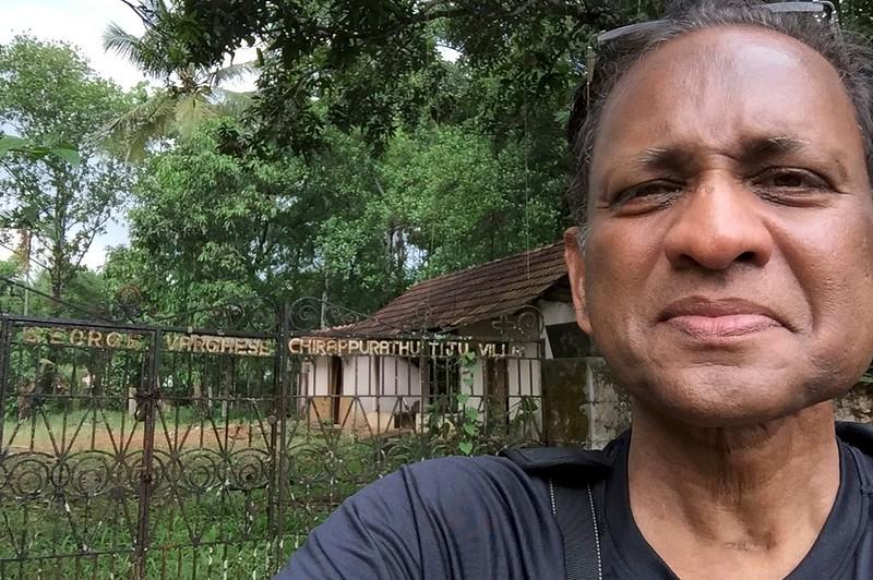 Selfie -outside demolished ancestral home