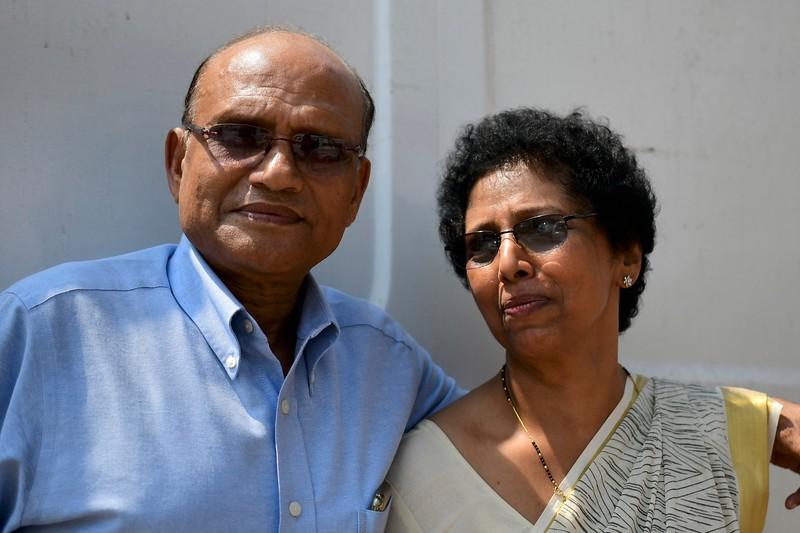Cdr Koshy with wife Jessy