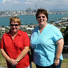 Karen and Kerry at Mt.Victoria in Devonport overlooking Auckland City