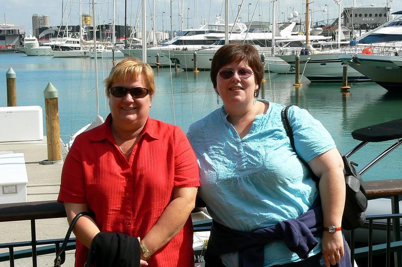 Karen and Kerry at the Viaduct Basin