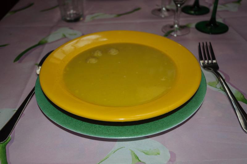 Pompoensoep met curry en mascarpone
