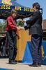 Getting his Egan Junior High diploma at graduation