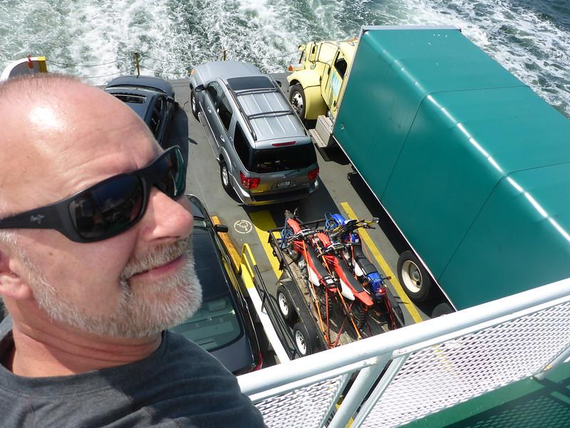 Checking the cargo deck