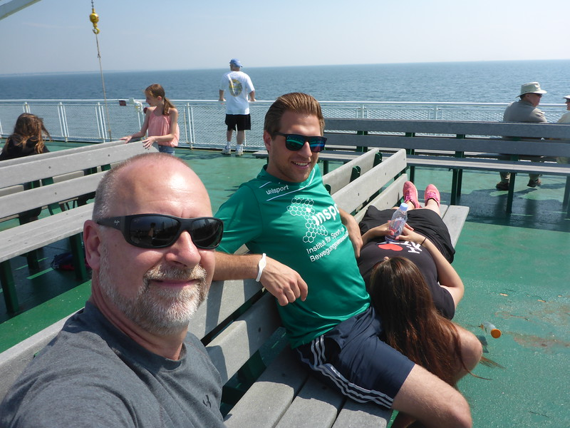 On the ferry from L.I. to Bridgeport, CT