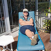 Soaking up the sun Sunday morning.<br /> A bit chillier than expected.