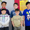 Counter-clockwise, from front: Khoi (Nathan), the birthday boy, Theo, Kendrick, Lucas, Khoa (Daniel)