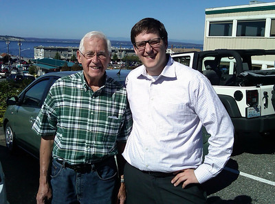 Andy and Grandpa Hoort in Mukilteo.