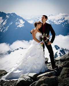 Andy shot this wedding at 6000 ft on a glacier.