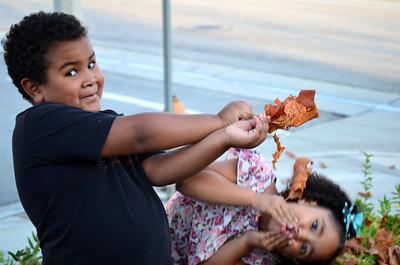 Kids in Leaves 11.25.12