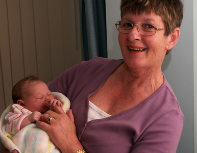 Bianca and Gran on her birthday (26 March 2007)