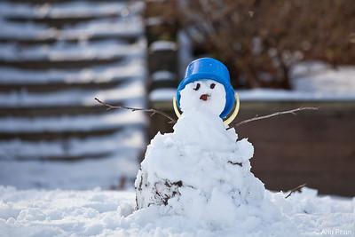 Dylan's first snowman