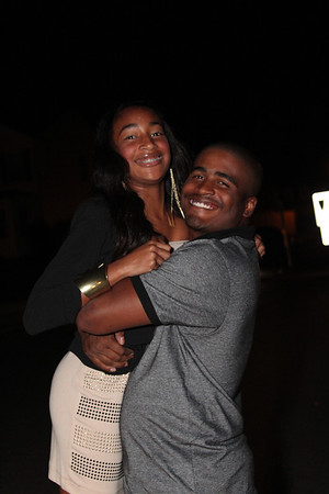 Big Brother giving her a hug before she goes off to the Homecoming Dance @ Bethel High School