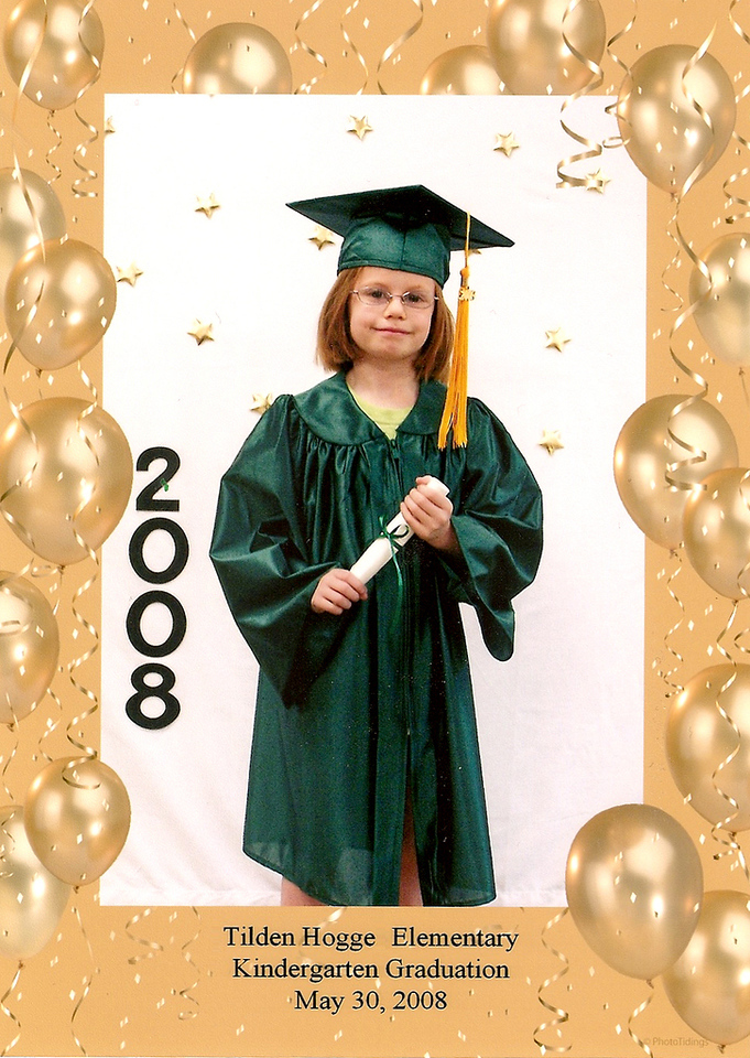 Kindergarten graduation. I love the tassle::head size ratio.