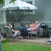 Zak, Sue, Kim and Grandma relaxing on the patio!