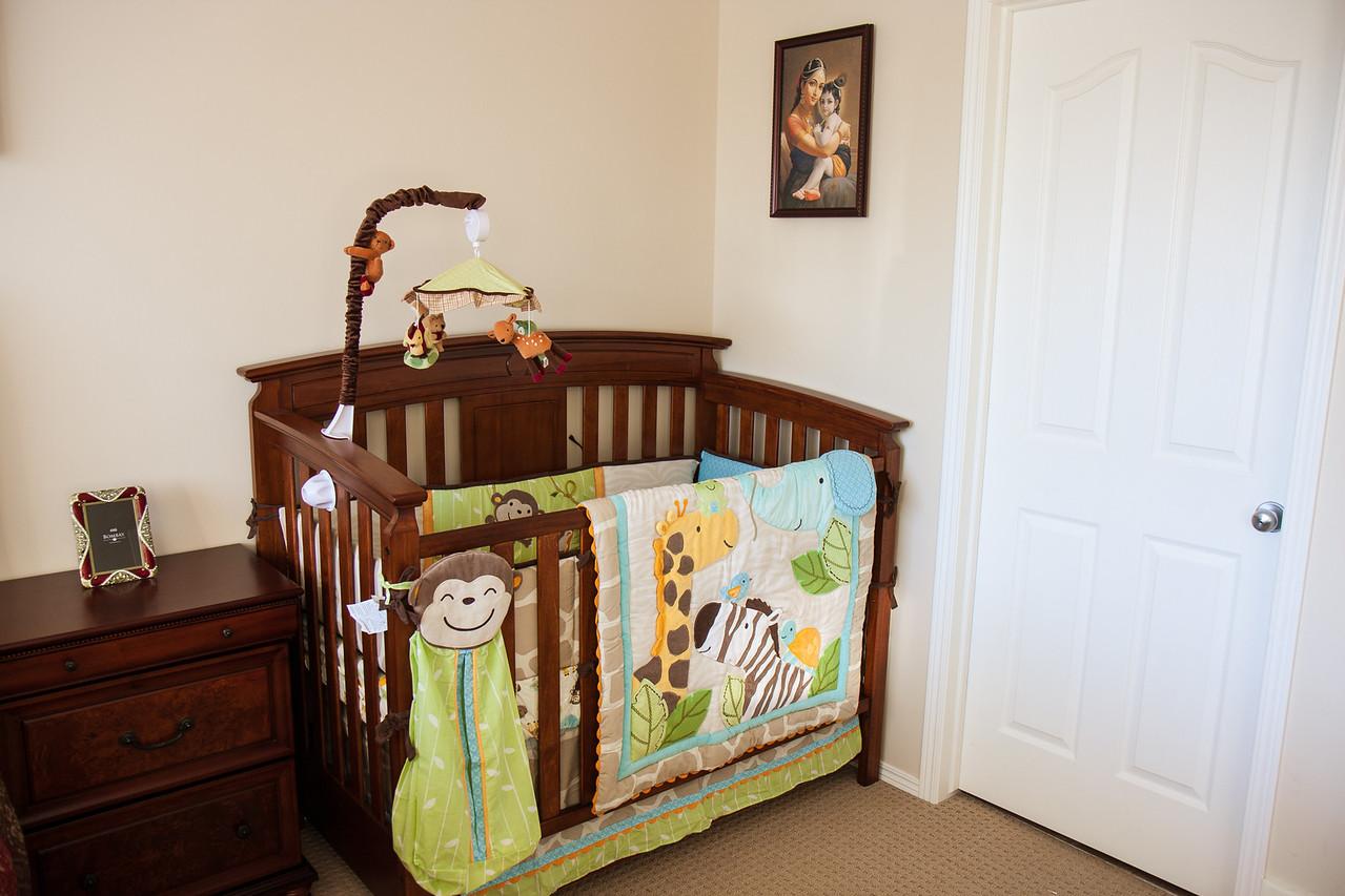 Crib awaiting newborn