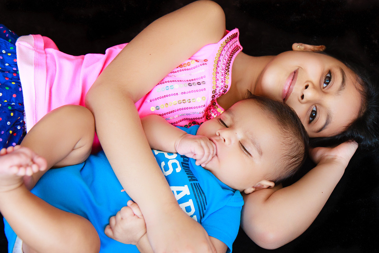 With Sakshi - Sleeping on comfy pillow- Didi's Hand
