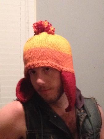 Jayne hat for Stephen; bulky, #10, CO 80