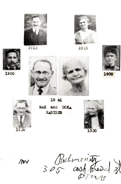 Max and Dora Rabiner over time