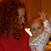 Blurry and out-of-focus, but I had to post this one cuz it shows Kenna waving...