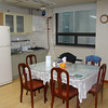 This is the 3rd floor kitchen where we could cook meals and store food.  ESWS provides eggs, bread, butter, jelly, and orange juice for guests.