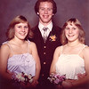 Homecoming dance senior year.<br /> Larua on the left and Linda on the right.