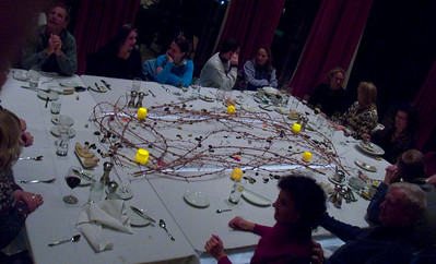 They created a wonderful table for our wine dinner.