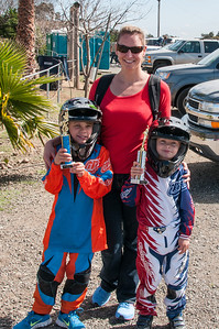 Kristi the photographer and her two BMX racers.
